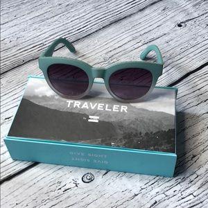 TOMS Traveler Dalston Seaglass Sunglasses w box